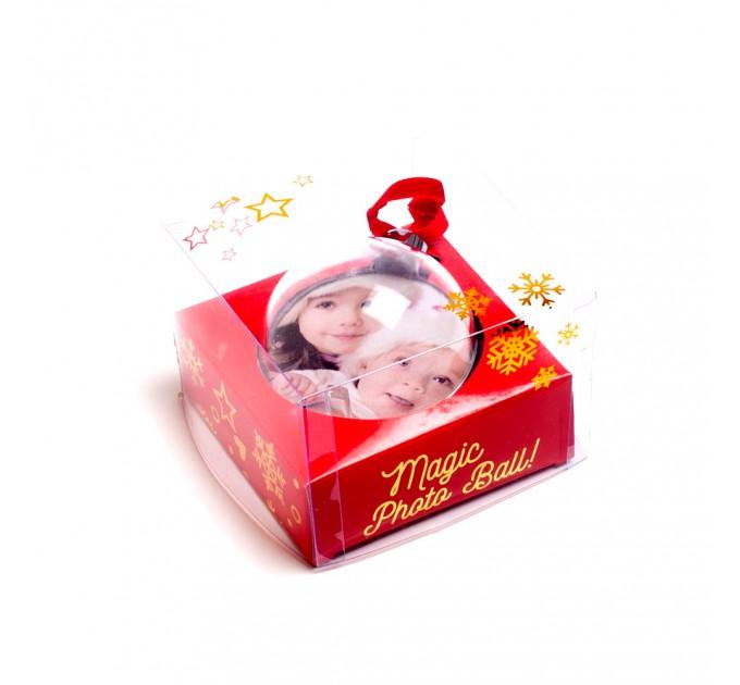 Шар новогодний елочный с полиграфической вставкой